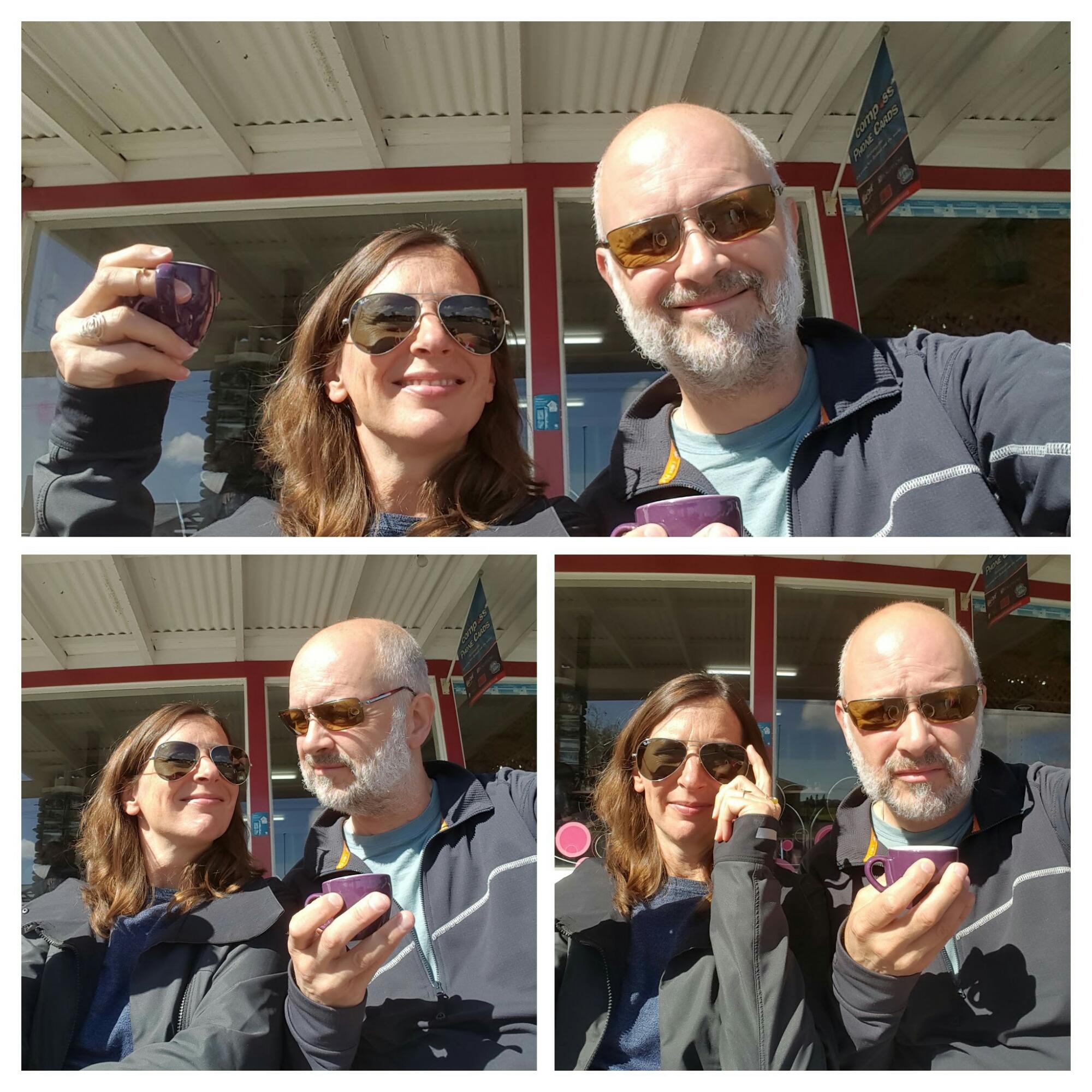 Barbera en Gerrit aan de koffie!